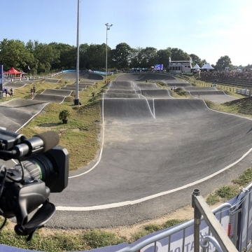 Agence Kervert Plateau camera championnat de France BMX 2018